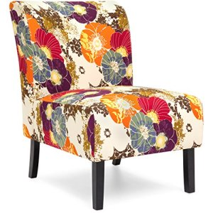 Best Choice Products Modern Contemporary Upholstered Armless Accent Chair - Floral/Multicolor