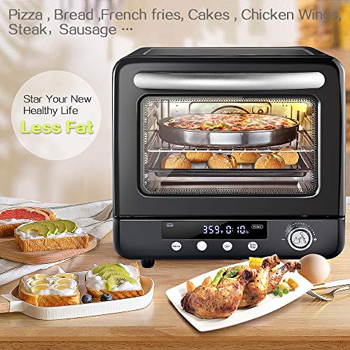 Air Fryer Oven Aobosi Electric Toaster Oven Convection Rotisserie Oven Roaster Package deal Dimensions: 18.5 x 14.5 x 14.5 inches