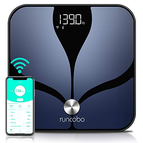 Smart Scale - Auto-SwitchWi-FiBluetoothBody WeightScale with Body Fat,14BodyCompositionMonitorwithiOS AndroidAPP,MultipleUsers,UnlimitedCloudStorage, scales digital weight and body fat