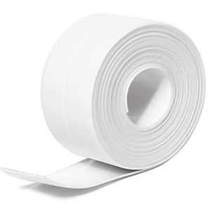 "Tintvent Tape Caulk,Tub Caulking Tape,Caulk Strip PVC Self Adhesive Repai Tape for Bathtub Kitchen Sink Basin Edge Shower Toilet and Wall Mildew Sealing Tape(1-1/2"" x 11' White)"