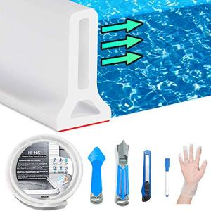 Hi-Na 3ft/5ft/6ft/8ft10ft Collapsible Shower Threshold Water Dam Watei Barrier for Shower and Water Stopper Keeps Water Inside Water Threshold for Wet and Dry Separation (3ft)
