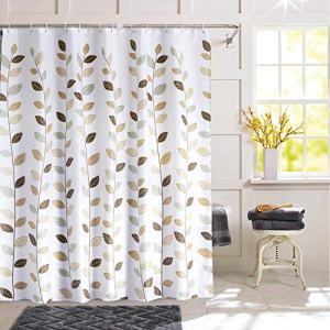 SHU UFANRO Shower Curtain Polyester Fabric Waterproof Shower Curtains for Bathroom Machine Washable