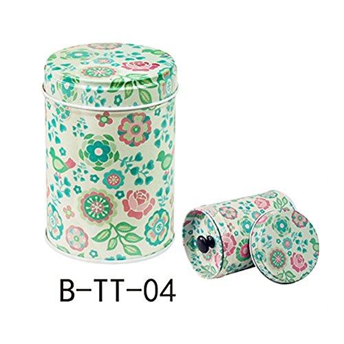 angel3292 Cylindrical Candy Tin Box Coffee Tea Seal Storage Jar Canister Large Capacity