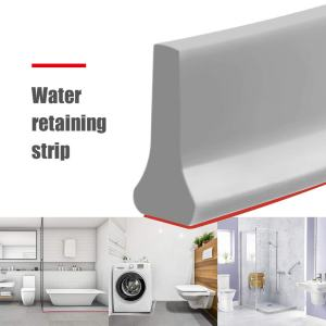 Graysky Collapsible Water Dam Threshold Splash Guards, Silicone Self-Adhesive Bendable Bath Shower Barrier Retainer, Water Flow Block Seal Waterproof Strip, Water Retention System for Bathroom Kitchen