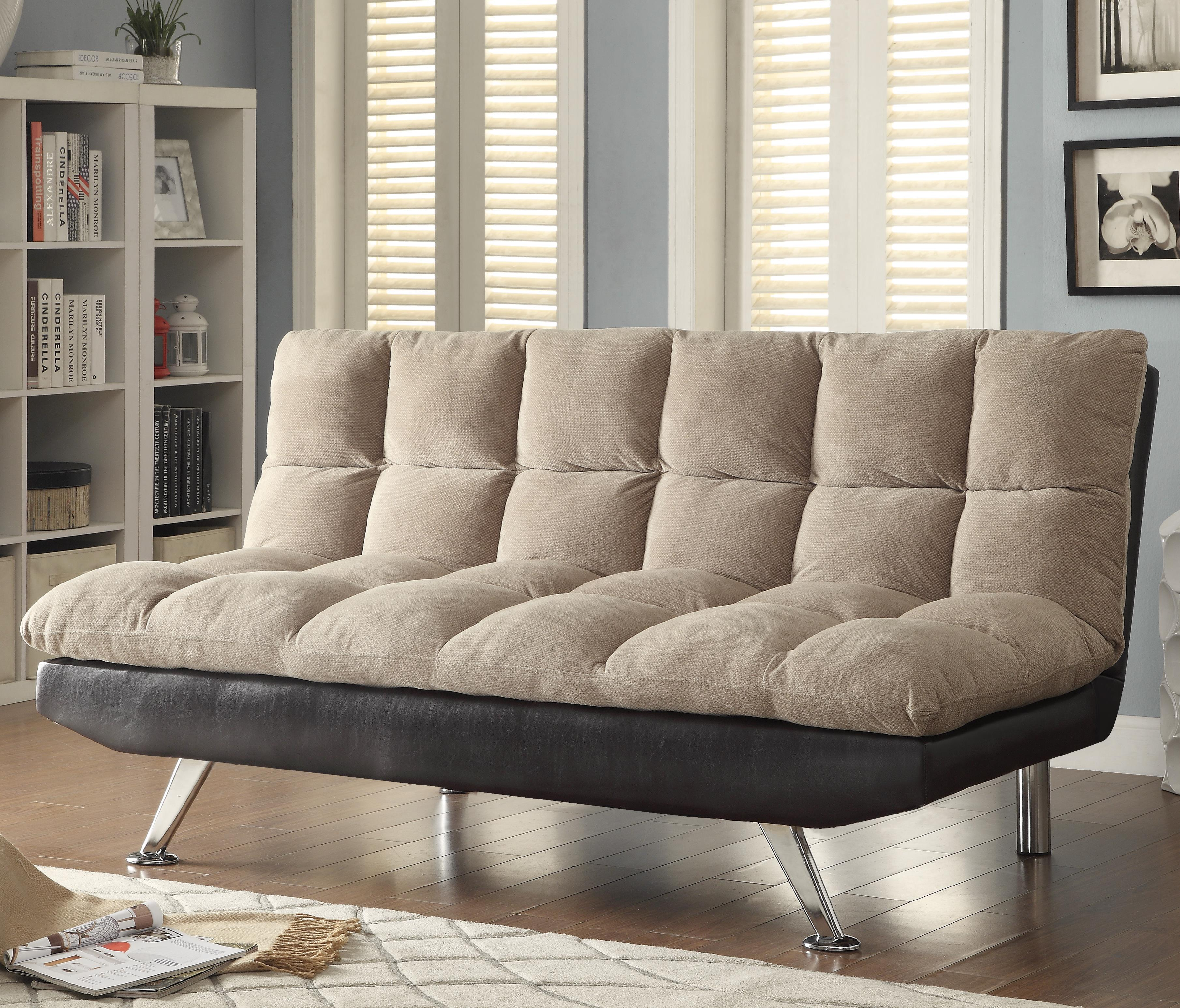 sofa beds and futons two tone sofa bed with pillow top seating
