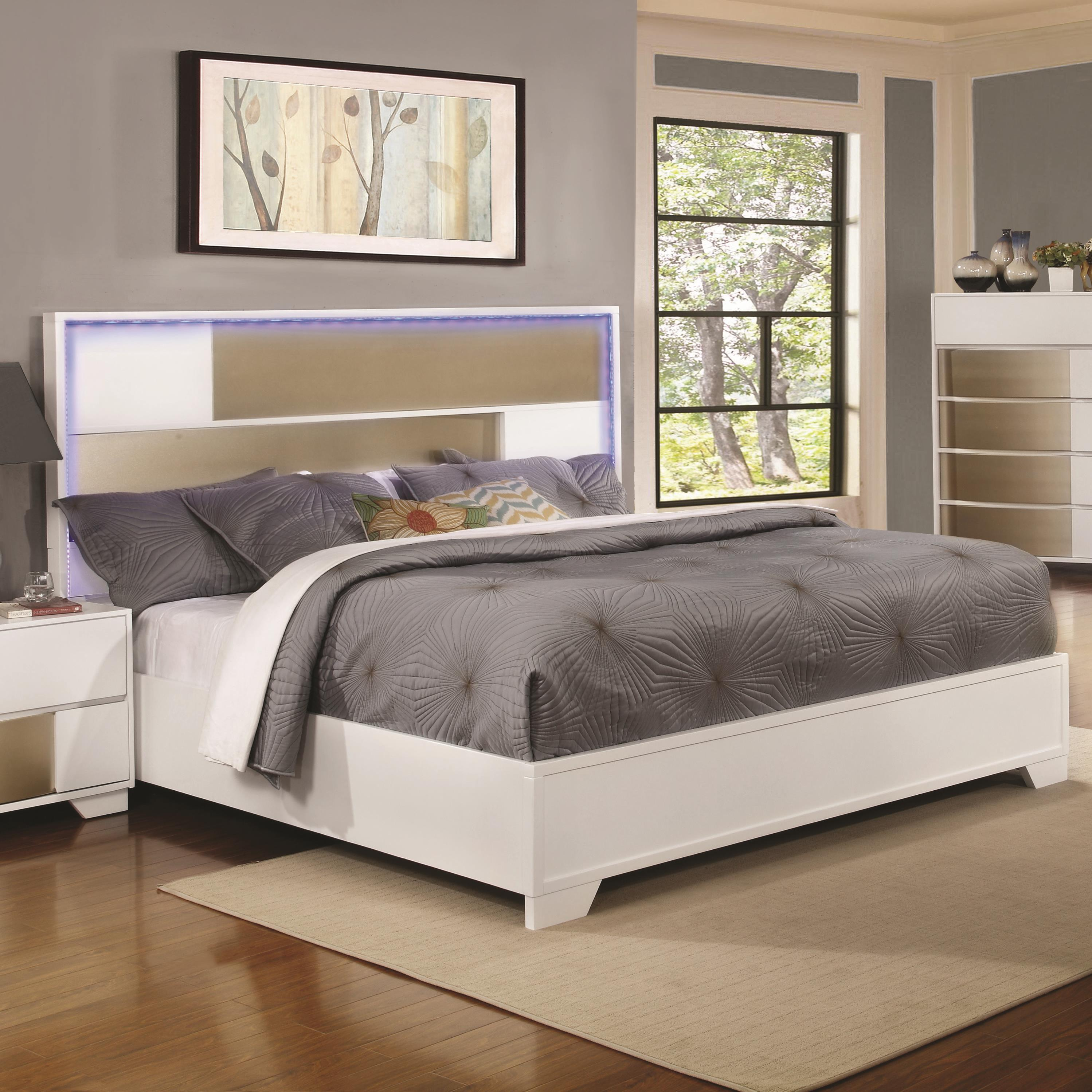 Havering Eastern King Bed With Led Lighted Headboard