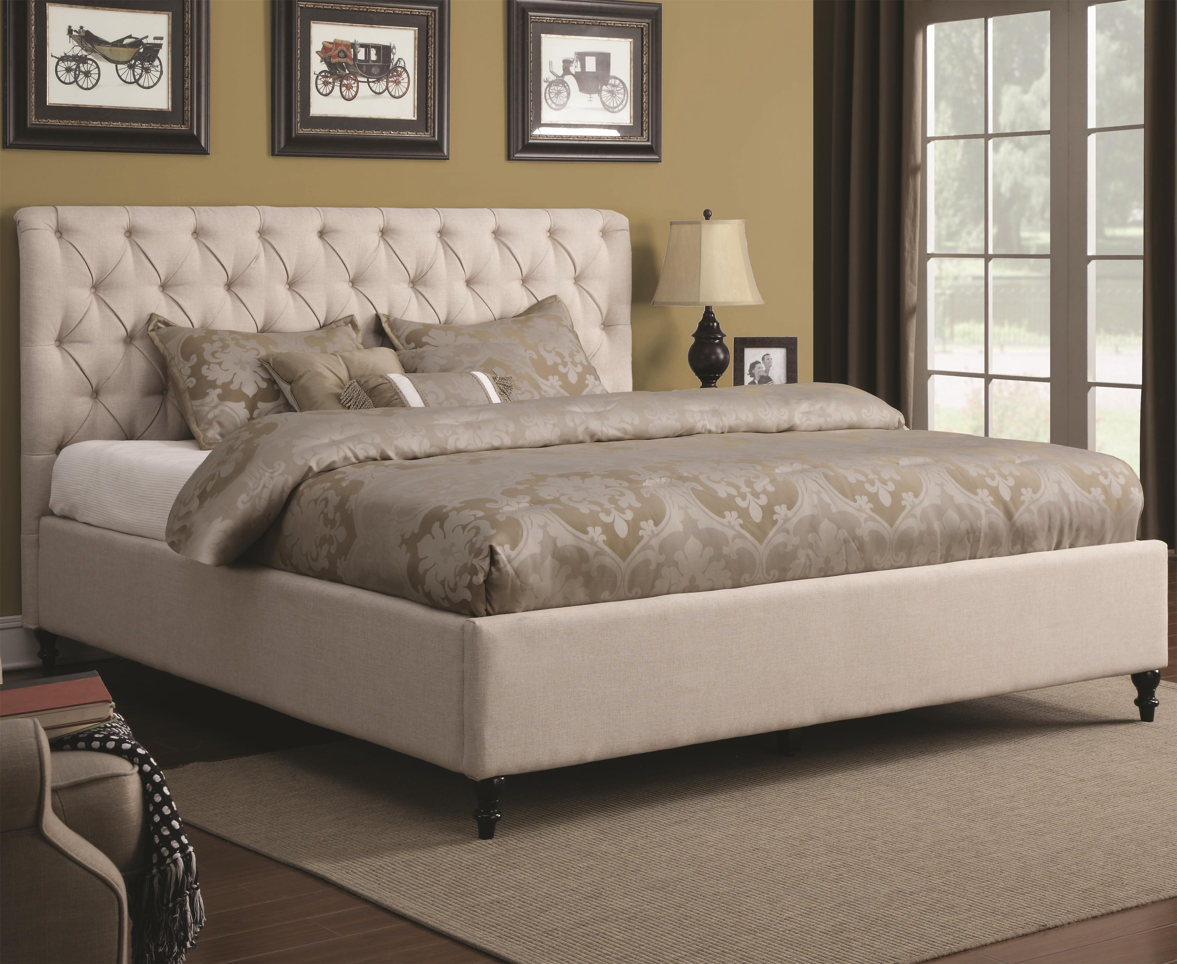 Upholstered Beds California King Upholstered Bed With
