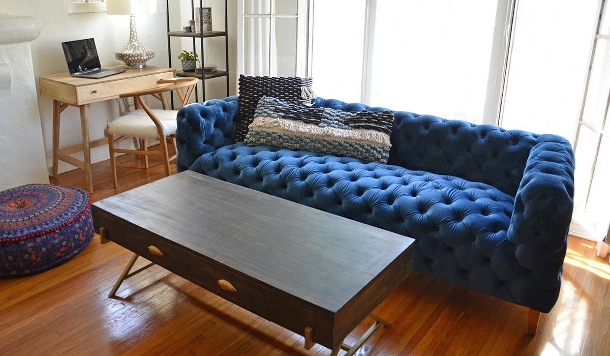 Look At This…Blue Tufted Sofa! 👀 – Nadeau – Blog With a Soul