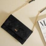 【開封レビュー】otona MUSE (オトナミューズ) 2017年 1月号 付録 AHKAH / アーカー チェーン付き ふわふわお財布バッグ