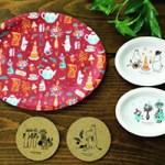 cookpad plus クックパッド プラス 2018年 11月号 【付録】 ムーミン メラミン トレー & コースター 5点セット