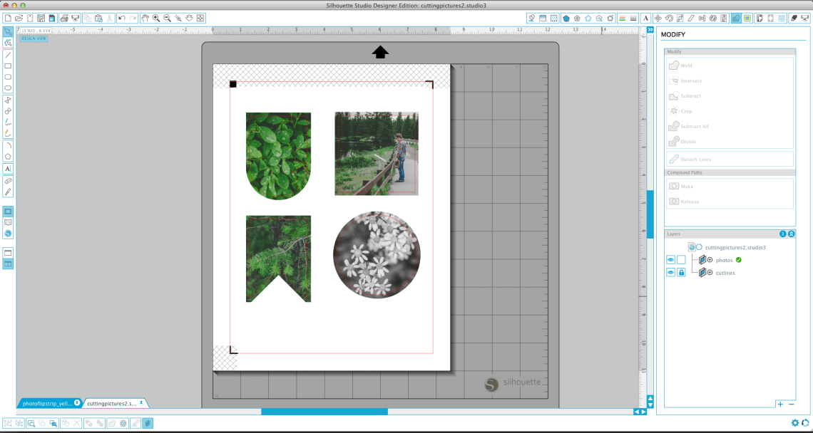 how to cut photos into any shape using silhouette studio