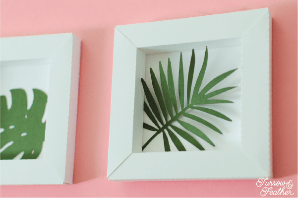 Framed Paper Tropical Leaves - Furrow and Feather, Silhouette Design Store