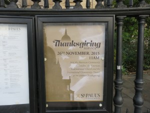 Thanksgiving at St Paul's