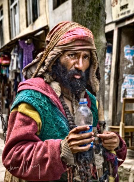 Sadhu Mystic With Pepsi