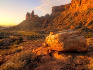 Arroyo at Dawn, Valley of the Gods