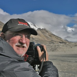 Tom at Mt. Everest, Tibet - 2009