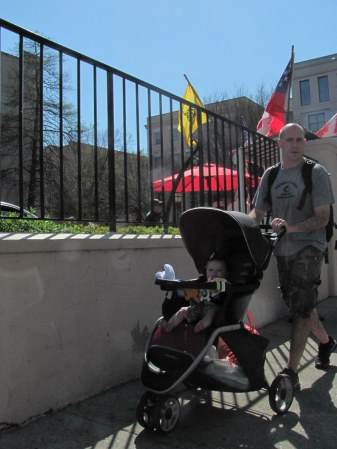 Charleston man with baby