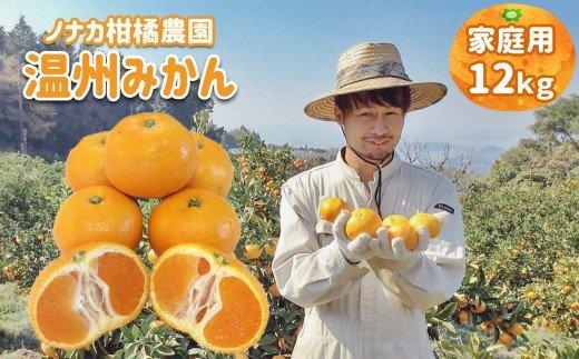 【ご家庭用訳あり】ノナカ柑橘農園 温州みかん 12kg イメージ