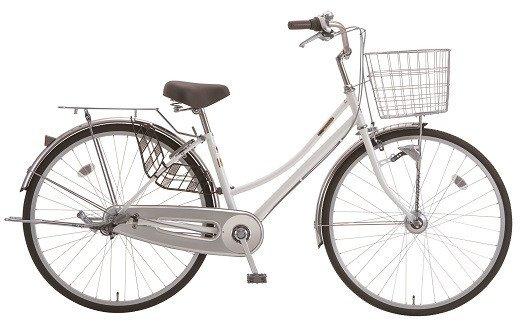 内装3段オートライト付き自転車 フィフスアベニュー27型スノーホワイト イメージ