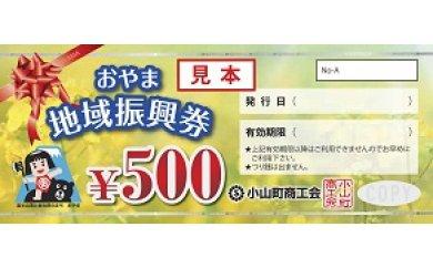 おやま地域振興券(500円×8枚)  イメージ
