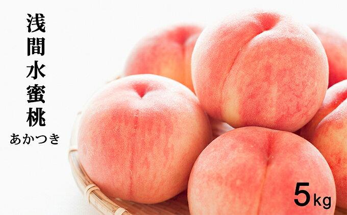 信州小諸産「浅間水蜜桃」みつおかのもも約5kg【あかつき】 イメージ