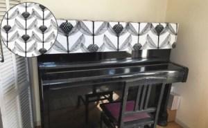 北欧生地で作るピアノカバーお仕立て券(布代込)