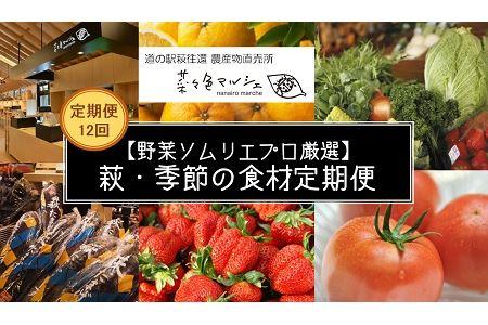 【野菜ソムリエプロ厳選】萩・季節の食材定期便【12回コース】 イメージ