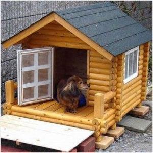 ログペットハウス 犬小屋 犬舎1000型 デラックス 小型犬用