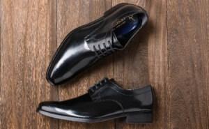 倭イズム 牛革マッケイビジネスシューズ紳士靴YAP601(ブラック) 26.5cm