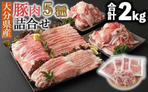 小分けされてるから便利♪大分県産 豚詰め合わせ5種(約2kg) イメージ