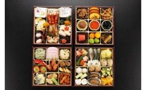 JA06.日本料理てら岡・おせち/博多『鶴』与段重+博多和牛すきしゃぶセット