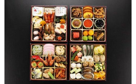 日本料理てら岡・おせち/博多『鶴』与段重+博多和牛すきしゃぶセット イメージ