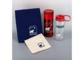 知床財団オリジナルロゴデザイン「サーモボトル」&「ナルゲンエコボトル」とタオルのセット