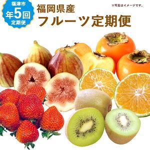 【年5回定期便】福岡県産旬のフルーツ定期便 イメージ
