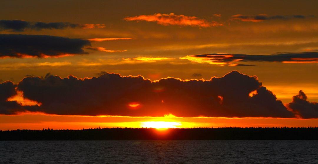 Northern Saskatchewan sunset