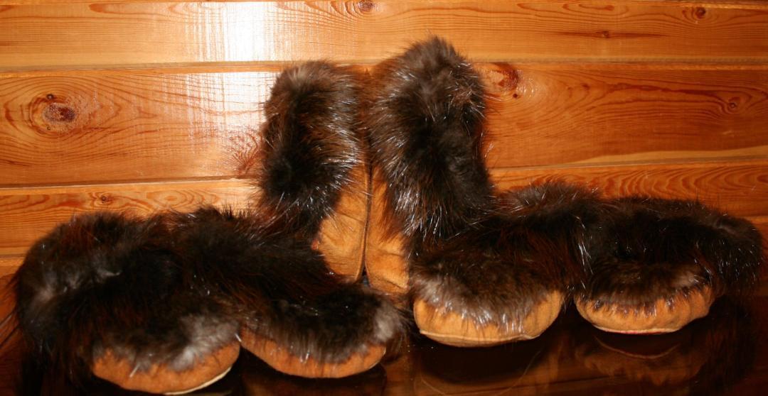 Beaver Fur moccasins