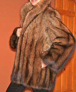 Custom made wild fisher fur jacket