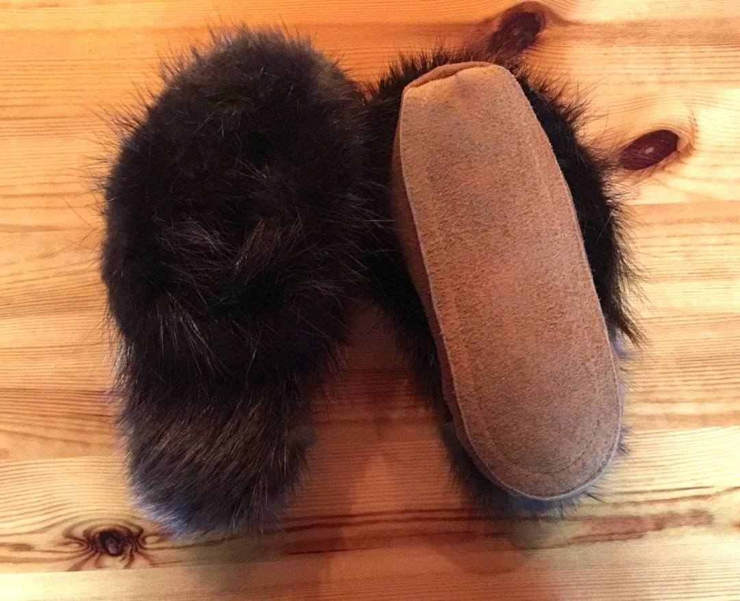 Moose Hide Custom Fur Jacket & Custom Otter Fur Hat