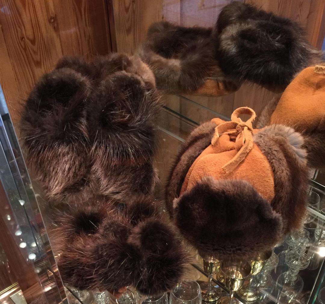 Muskrat Fur Hat