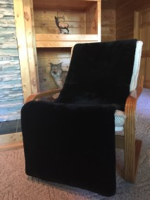 Real Sheared Beaver Fur Throw