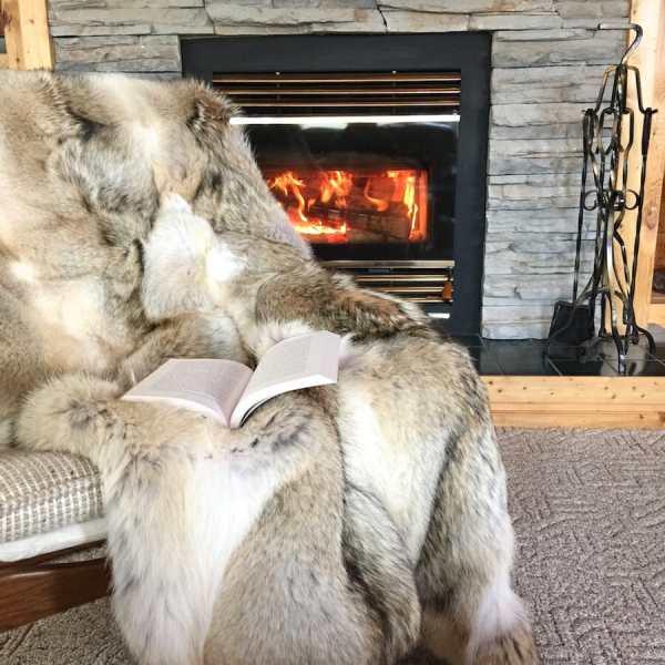Coyote Fur Throw