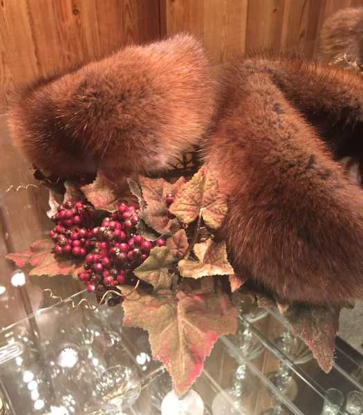 Muskrat Fur Headbands