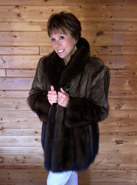 Natural Canadian Fisher Fur Jacket