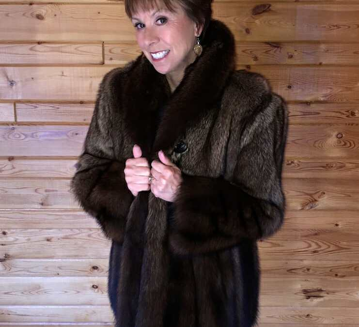 Happy Mother's Day – Natural Fisher Fur Jacket