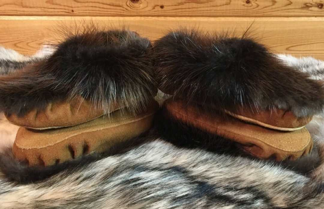 Moose hide & beaver moccasins