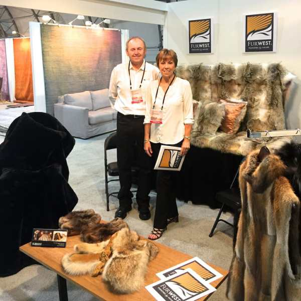 FurWest's Display - Luxurious Wild Fur Products