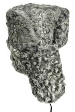 Grey Persian lamb ushanka