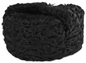 Black Persian lamb ushanka