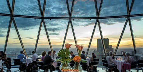 Searcy's Dining club at the Gherkin
