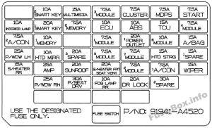 Fuse Box Diagram > KIA Rondo (20132018)